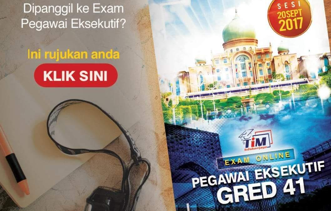 Rujukan Peperiksaan Online Pegawai Eksekutif LHDN Gred 41